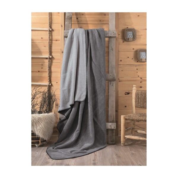 Sivá deka Stripe, 200×220 cm