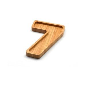 Bambusový servírovací tanierik Bambum Numero Seven