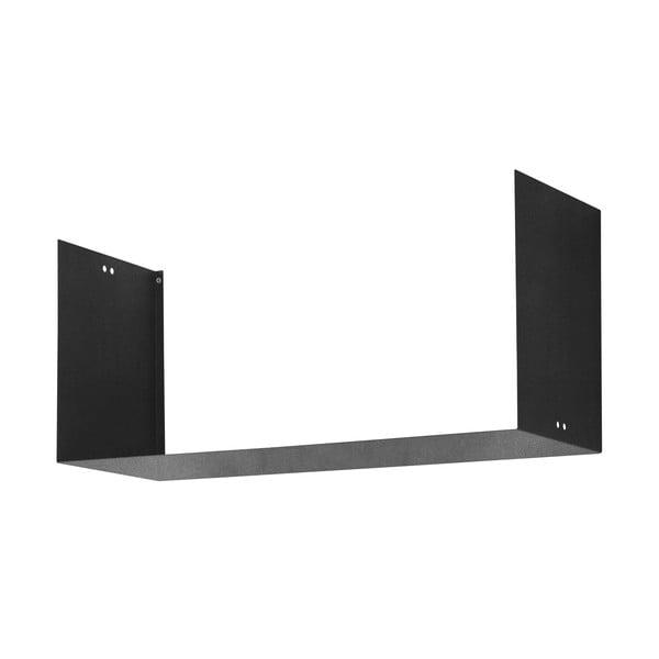 Nástenná polica Geometric Three, čierna