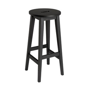 Čierna barová stolička z dubového dreva Rowico Frigg