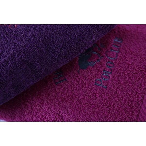 Sada 3 fialových uterákov BHPC, 50x100cm