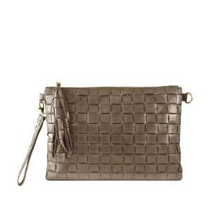 Béžová kožená listová kabelka Maison Bag Ally