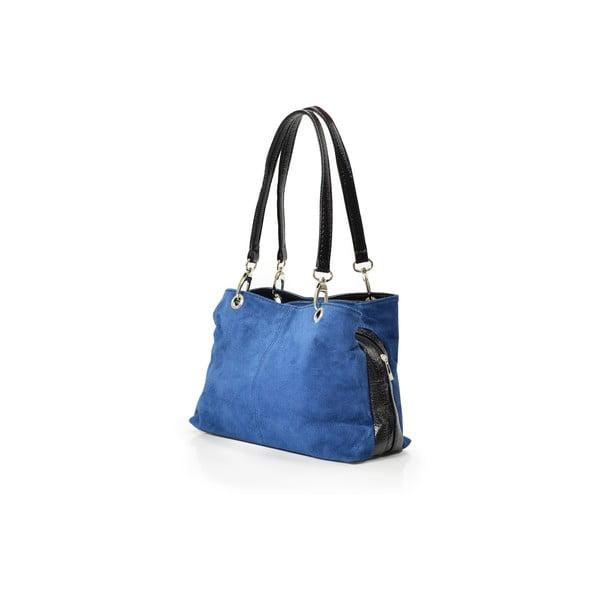 Kožená kabelka Gigi, modrá