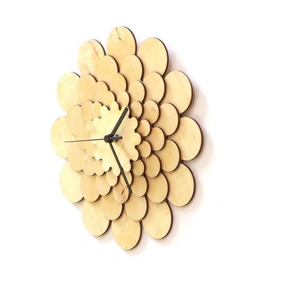 Drevené hodiny Flower, 29 cm