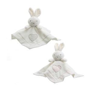 Sada 3 detských mazliacich diek s plyšákmi Unimasa Rabbits, 30 x 30 cm
