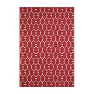 Červený koberec Nourison Baja Cuzco, 170×119cm