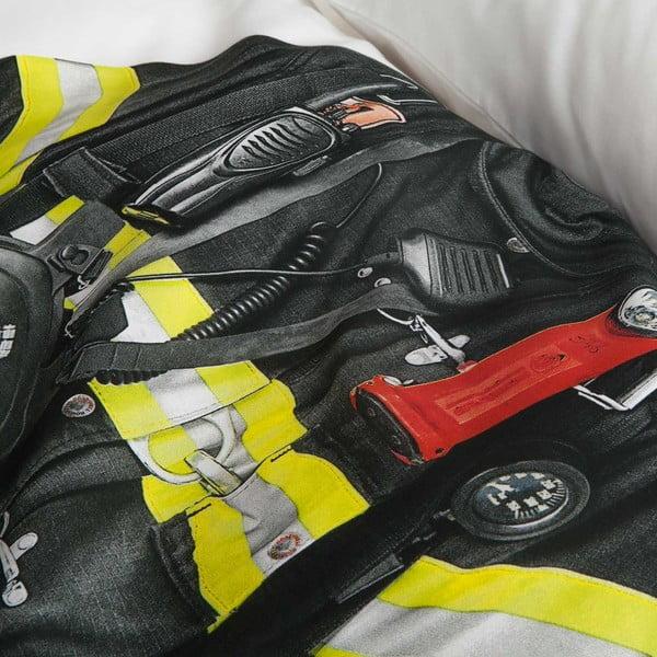 Bavlnené obliečky na jednolôžko Snurk Firefighter, 140×200 cm