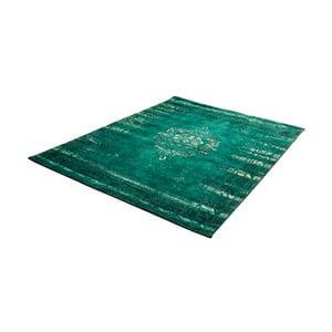 Zelený koberec s prímesou bavlny Cotex Centro, 140 × 200 cm