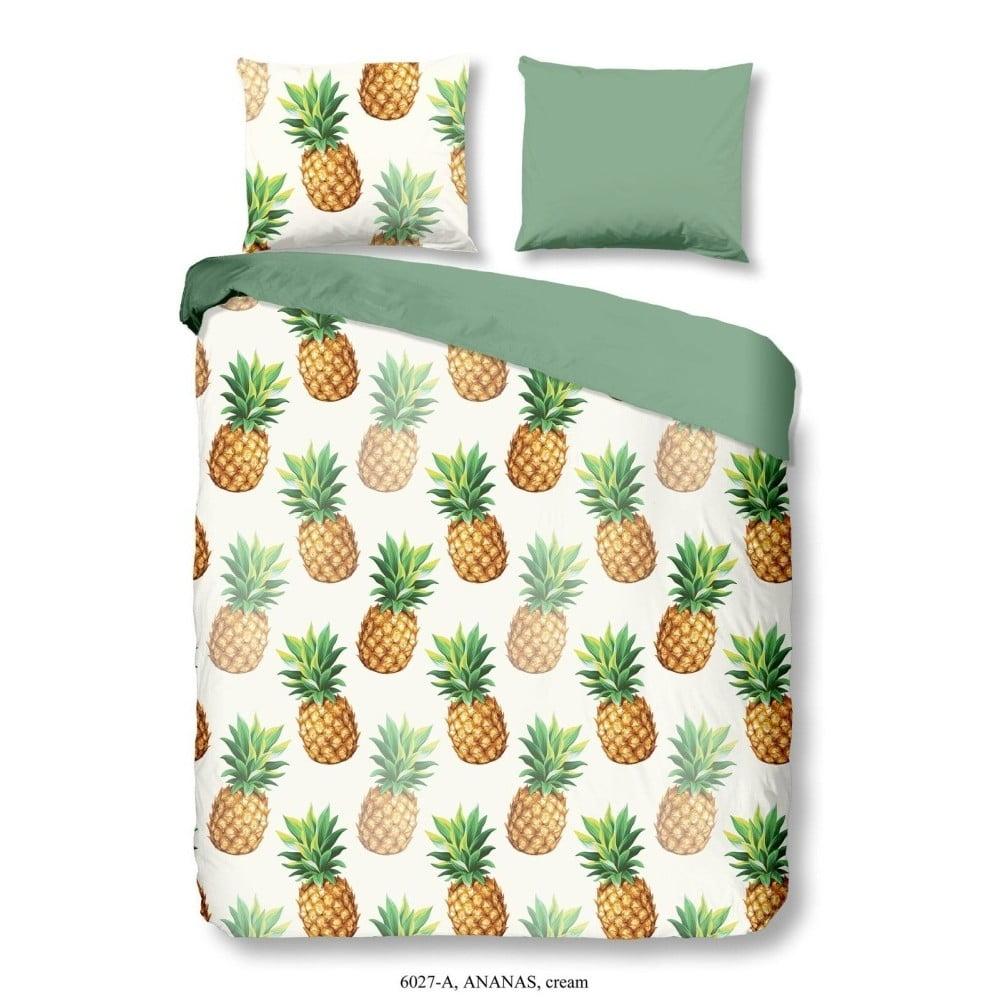Obliečky na jednolôžko z bavlny Good Morning Premento Ananas, 140×200 cm