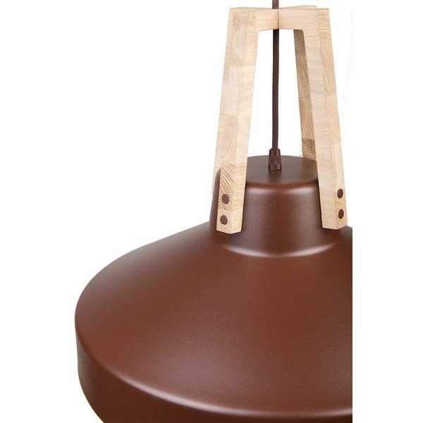 Hnedé stropné svetlo Loft You Work, 44 cm