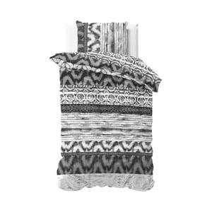 Sivé obliečky Sleeptime Sweet Shibori Retro, 140×220 cm