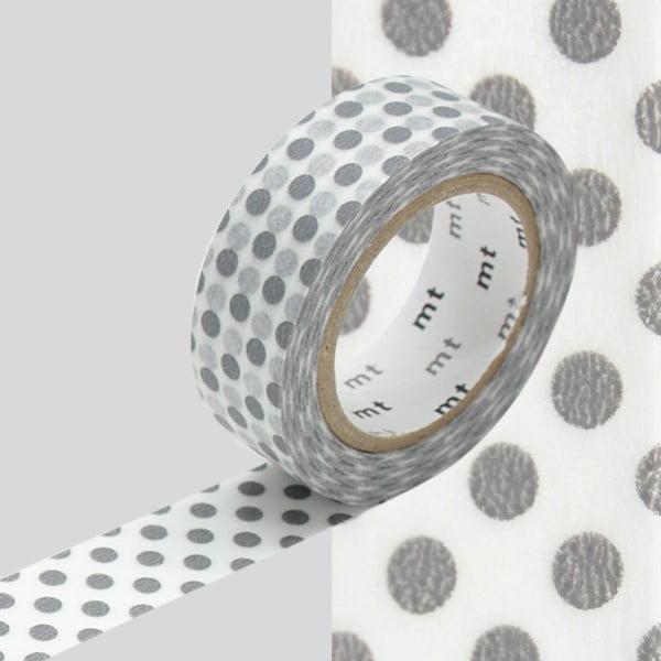 Washi páska Dot Dot Grey