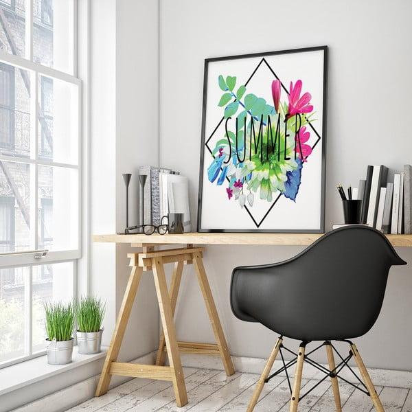 Plagát s kvetmi Summer, 30 x 40 cm