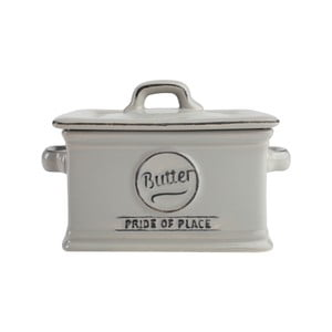 Sivá nádoba na maslo PrideofPlace