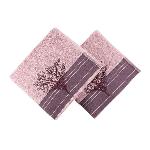 Sada 2 vínových uterákov Infinity, 50×90 cm