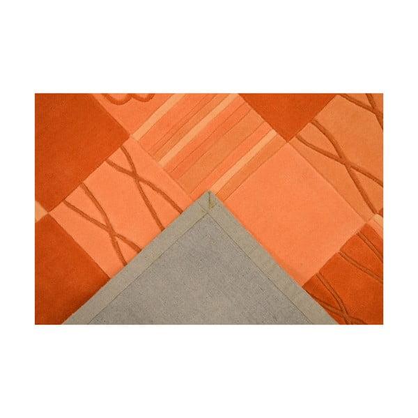 Ručne tkaný koberec Calypso, 70x140 cm, oranžový