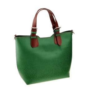 Zelená kožená kabelka Florence Cembro