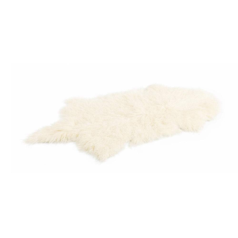 Biely koberec z mongolskej vlny Moycor