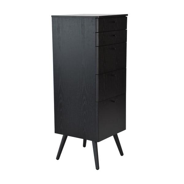 Kancelárske zásuvky Niles, 87 x 40 cm, čierne