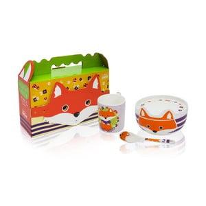 Detský raňajkový set z kostného porcelánu Silly Design Happy Fryderyk