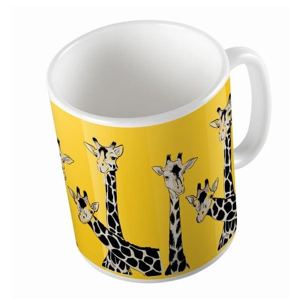 Keramický hrnček Friendly Giraffes, 330 ml