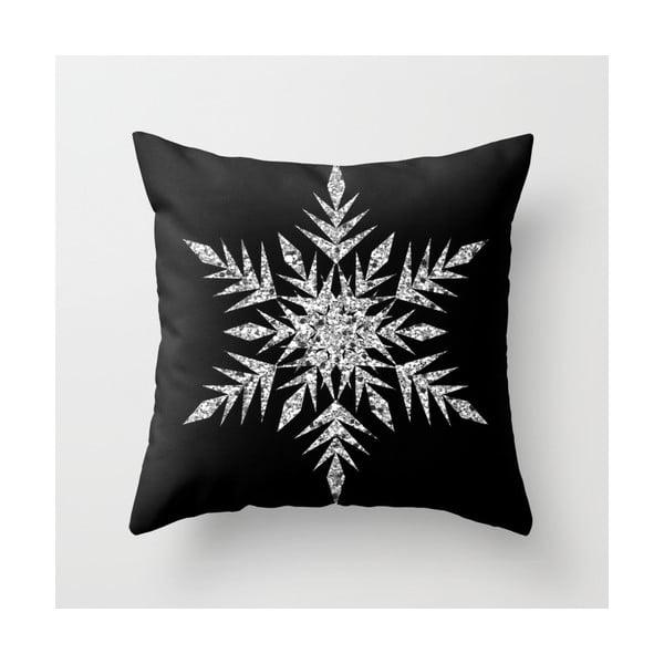 Obliečka na vankúš Snowflake Silver, 45x45 cm