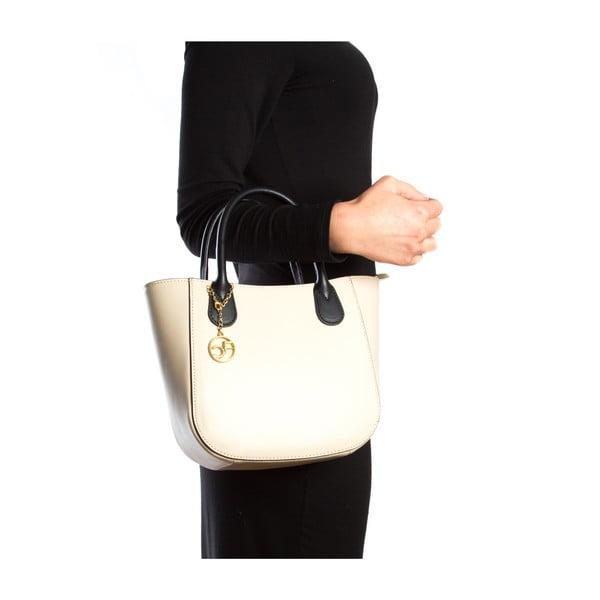 Kožená kabelka Coci, béžová
