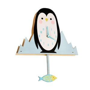 Drevené hodiny Rex London Milo The Penguin
