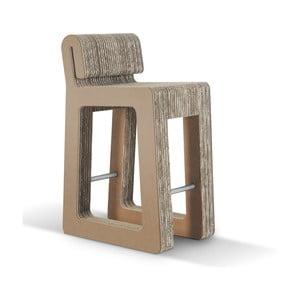 Barová kartónová stolička Hook Stool Natural