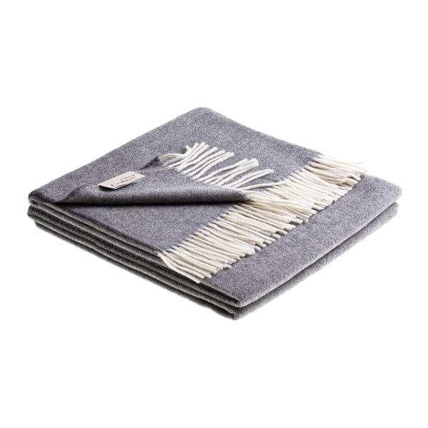 Vlnená prikrývka Tasmania 130x180 cm, sivá