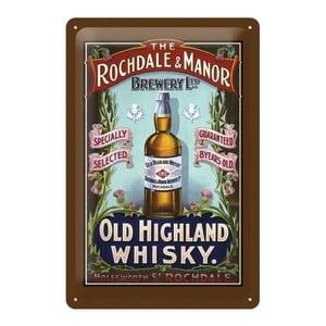Plechová ceduľa Whisky, 20x30 cm