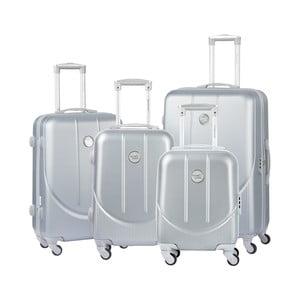 Sada 3 cestovných kufrov v striebornej farbe Travel World Amazonia