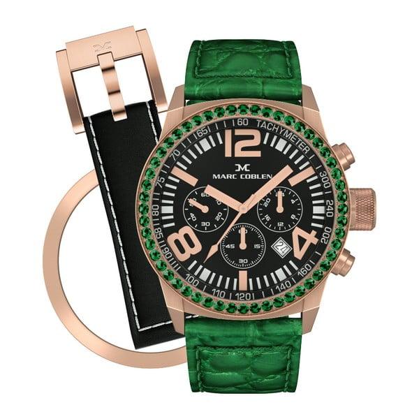 Dámske hodinky Marc Coblen s remienkom a krúžkom na ciferník naviac P800