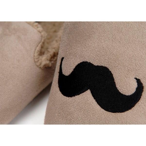 Papuče Moustache Taupe, veľ. 44/45