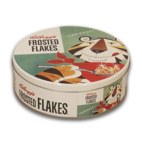 Kruhová kovová dóza Frosted Flakes, 7x20 cm