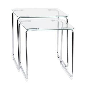 Sada 2 stolíkov Glass Tables