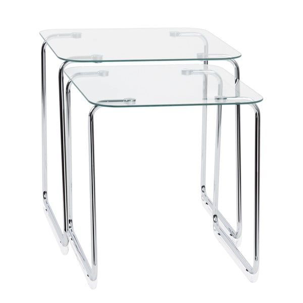 Sada 2 stolíkov Glass Tables