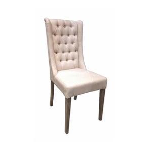 Biela stolička s bavlneným poťahom Miloo Home Andover