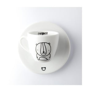 Hrnček na espresso s tanierikom Bear, 100 ml