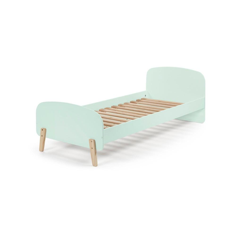 Mentolovozelený rám detskej postele z masívneho borovicového dreva Vipack Kiddy, 200 × 90 cm