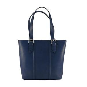 Modrá kožená kabelka Chicca Borse Fiona