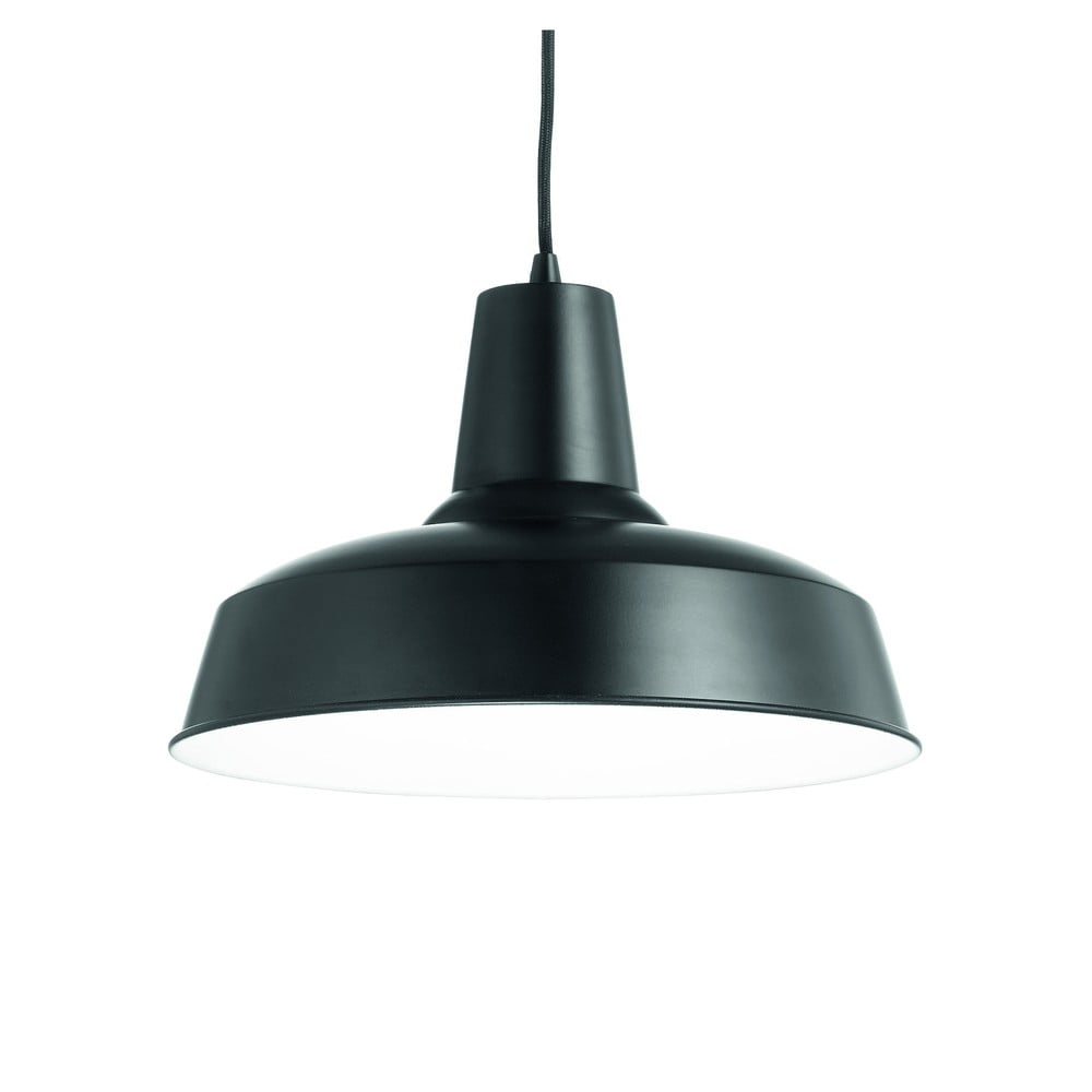 Čierne závesné svietidlo Evergreen Lights Industro