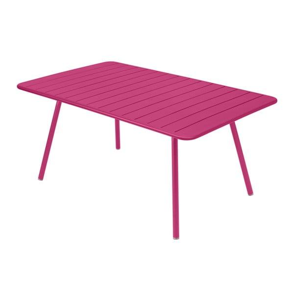 Ružový kovový jedálenský stôl Fermob Luxembourg