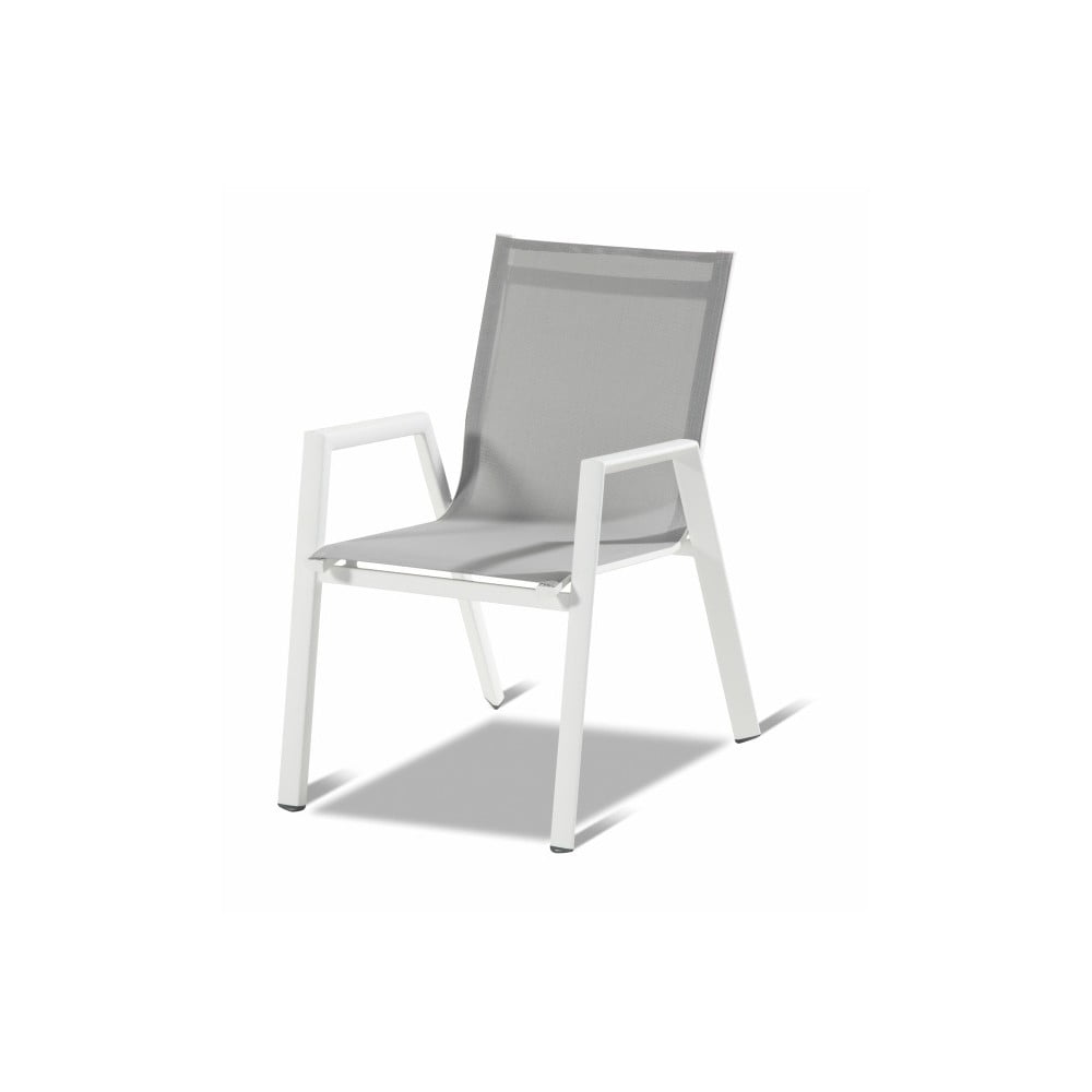 Biela skladacia záhradná jedálenská stolička Hartman Auba