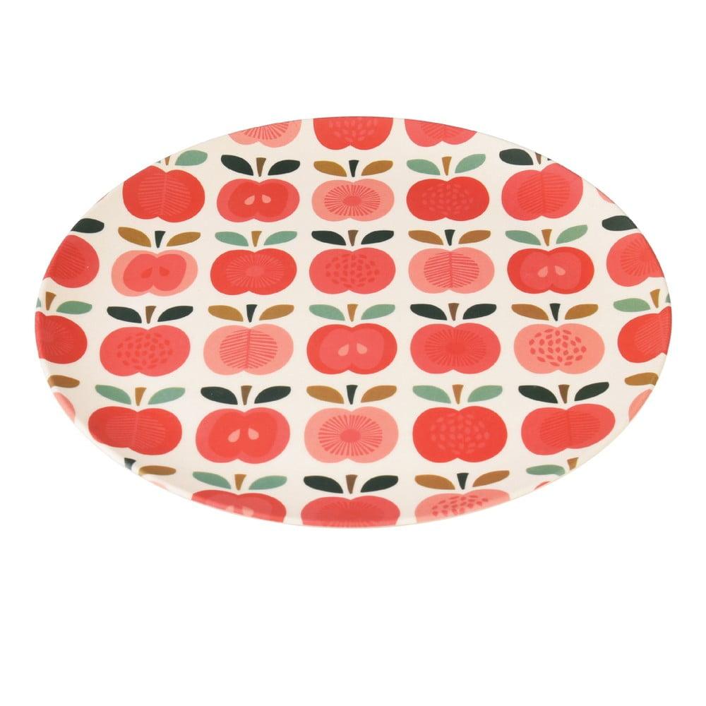 Bambusový tanier Rex London Vintage Apple, ⌀ 25 cm