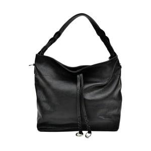Čierna kožená kabelka Carla Ferreri Camila Lento