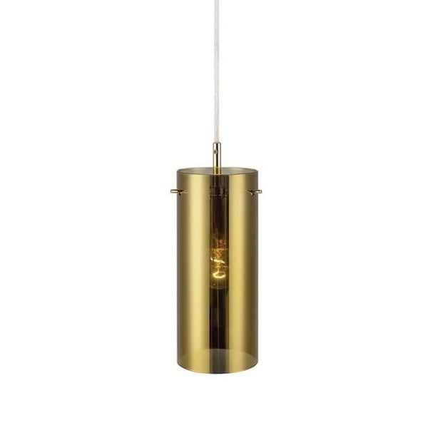 Závesné svetlo v zlatej farbe Markslöjd Storm, ⌀ 9 cm