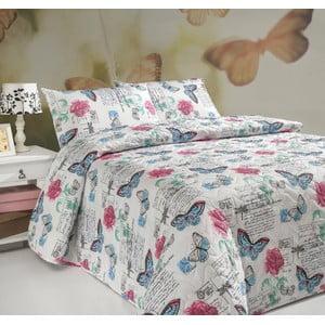 Sada prešívanej prikrývky na posteľ a dvoch vankúšov Carmen White, 200x220 cm