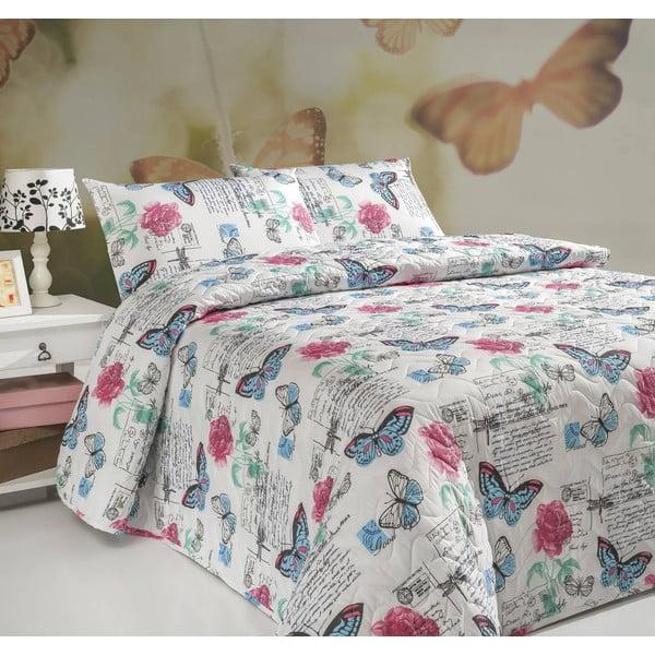 Sada prešívanej prikrývky na posteľ a vankúša Single 181, 160x220 cm