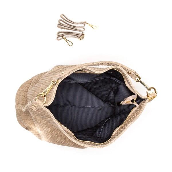 Kožená kabelka Bonita, sivohnedá